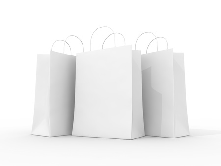 Blank shopping bag photo
