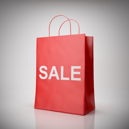 Blank shopping red bag for sale Stock Photo - 11768289