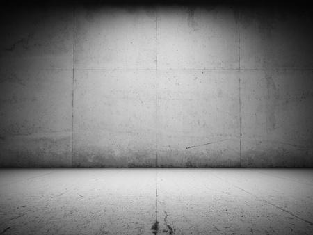 concrete room: Illuminated grungy concrete