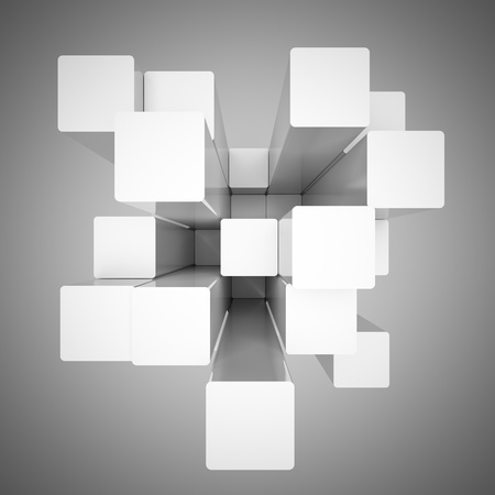 Abstract background design from cubes photo