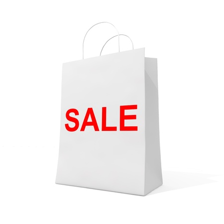 Blank shopping bag for sale Stock Photo - 12389137