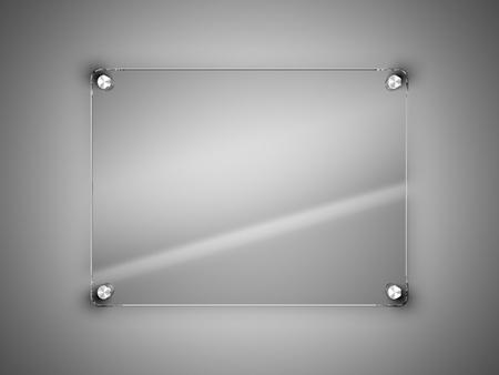 verre: Cadre en verre sur le mur Banque d'images