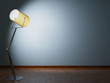 lamp stand: Modern floor lamp illuminates wall