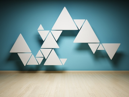 pyramid shape: Abstract shape of triangles in interior
