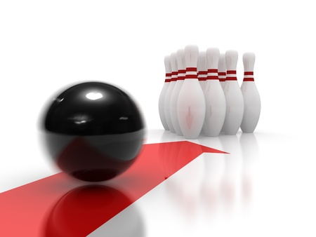 precisely: Bowling ball moving precisely to the target