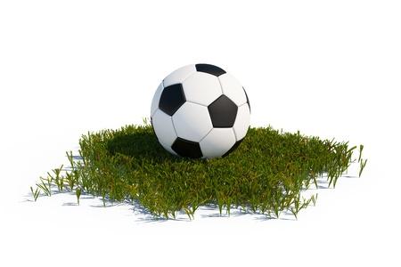 soccerball: Soccer ball on green grass