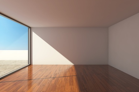 Empty modern hall with big window Stock Photo - 12878931