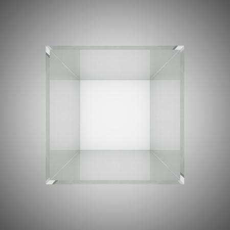 Empty glass showcase for exhibit Stock Photo - 13275770
