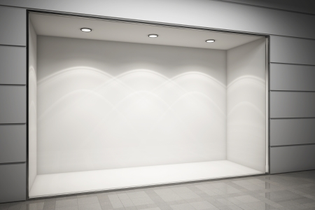 storefront: An empty storefront of shop