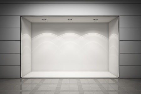 An empty storefront of shop photo