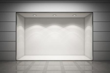 Een lege etalage van de winkel Stockfoto