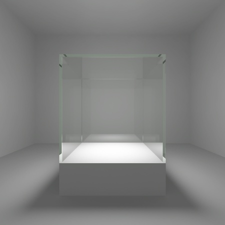 Empty glass showcase in room Stock Photo - 13697666