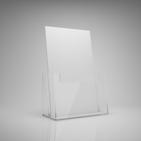 Blank brochure glass holder photo