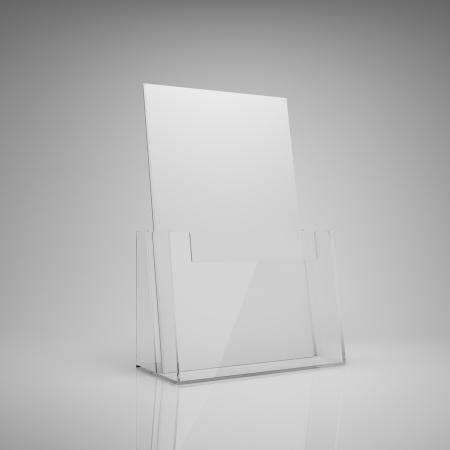 folleto: Folleto de soporte de vidrio en blanco