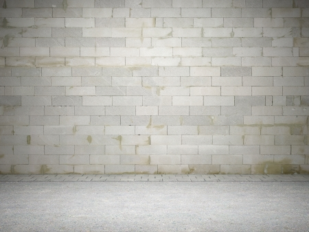 Blank dirty brick wall Stock Photo - 13697680