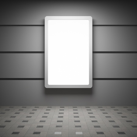 Blank advertising billboard in interior Stock Photo - 14129784