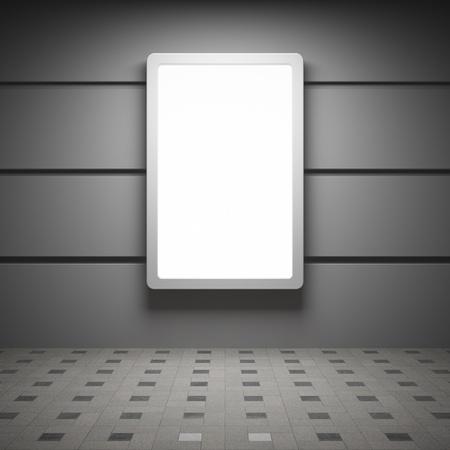 Blank reclamebord in het interieur Stockfoto