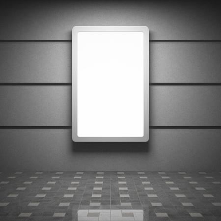 Blank reclamebord in het interieur