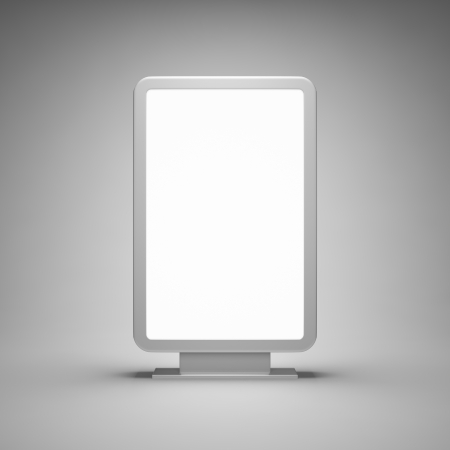 Blank advertising billboard on gray background Stock Photo