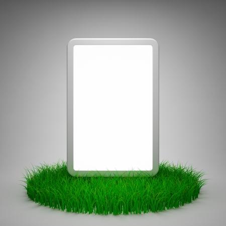 Blank advertising billboard on grass Stock Photo - 14129787