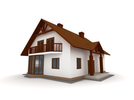 New family house isolated on white background Stock Photo - 14129766