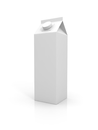 Blank milk package isolated on white background photo