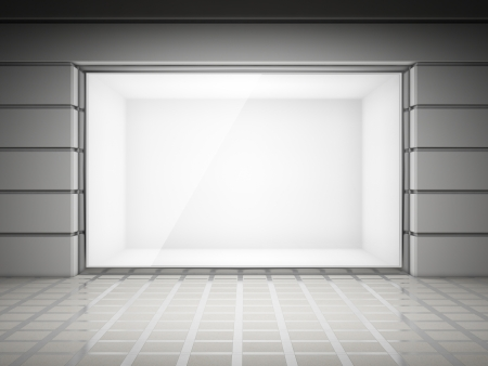 An empty storefront of shop Stock Photo - 14129781