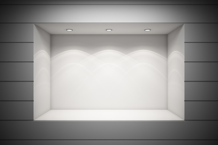 backlights: An empty storefront of shop