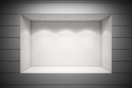 magasin: Une vitrine de la boutique vide
