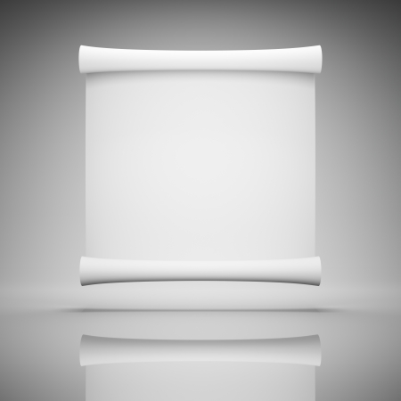 scroll design: Blank roll of paper for advertising