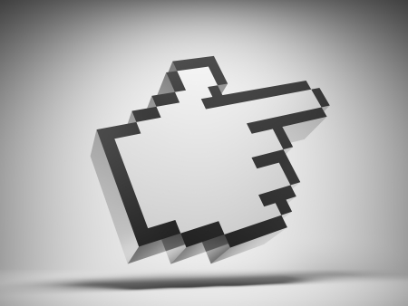 square image: Hand cursor icon Stock Photo