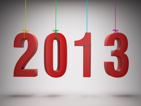 Happy New Year 2013 greeting card photo