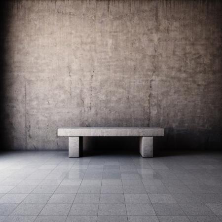 edificio industrial: Interior del grunge abstracto con el banco de cemento
