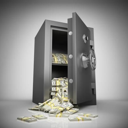 錢: 銀行安全用錢堆
