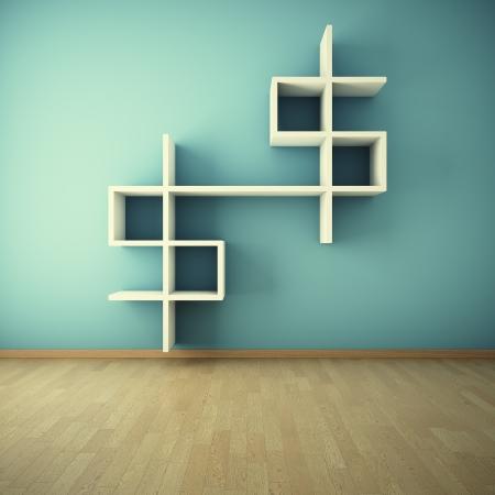 estanterias: Estante de la pared en la habitaci�n interior