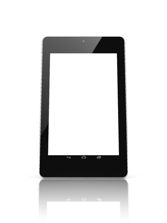 Black tablet computer with touch screen blank photo