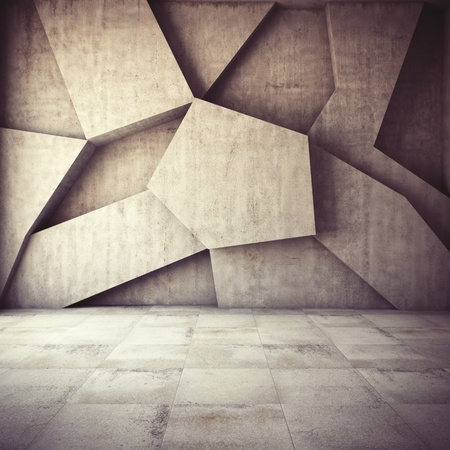 Abstract geometric background of the concrete photo