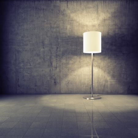 Modern lamp in grunge interior Stock Photo - 16430826