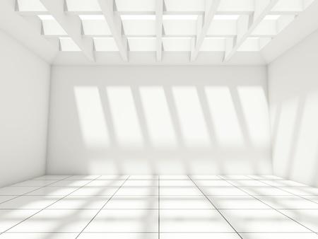 Ampio salone moderno con finestre
