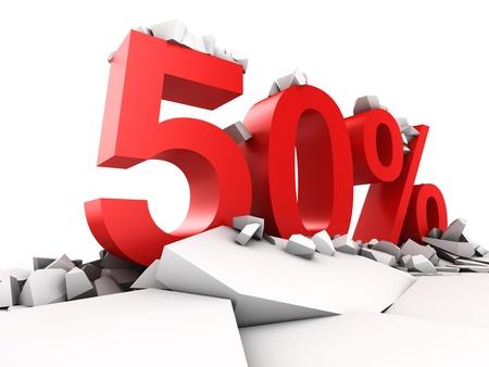 割引: 50% の割引の休憩地