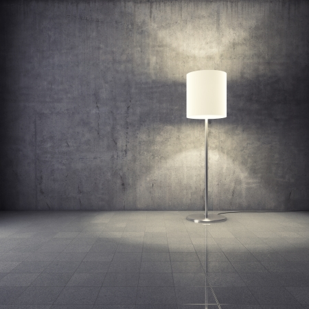 Modern lamp in grunge interior Stock Photo - 16752264
