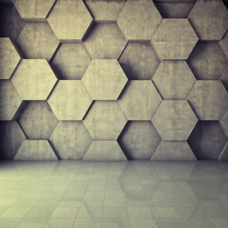 concrete blocks: Abstract geometric background of the concrete