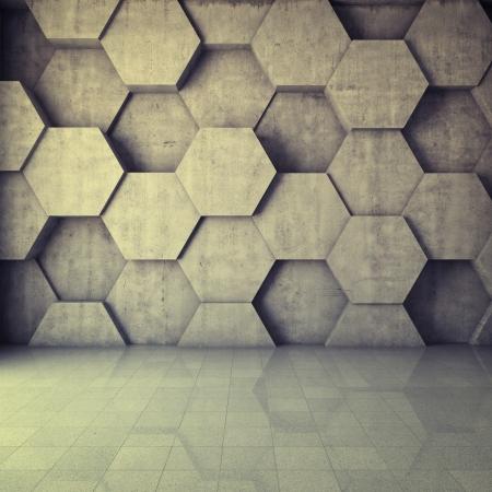 habitacion desordenada: Fondo abstracto geométrico del hormigón