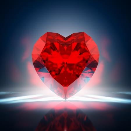coeur diamant: Red coeur de diamant Banque d'images