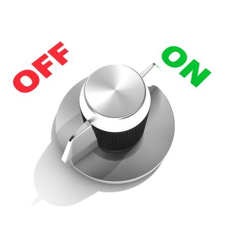"""Кнопки: Аналоговый тумблер в положение """"ON"""""""