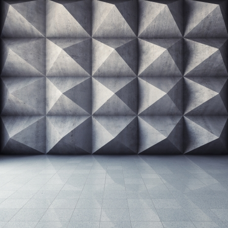 Abstract geometric background of the concrete Stock Photo - 17603873