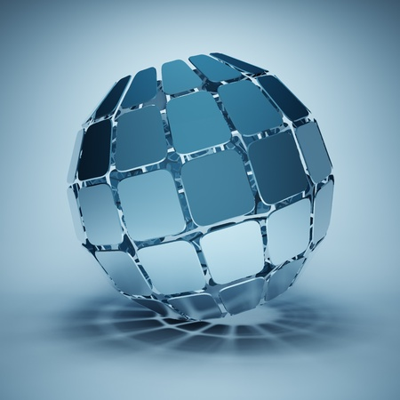 Design of the ball made ​​out of square segments photo