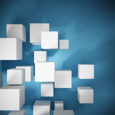 Abstract background from cubes Standard-Bild