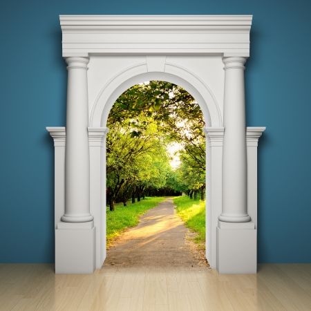 Abstract portal to the freedom