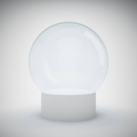 Empty glass ball for exhibition Stock Photo - 18708240
